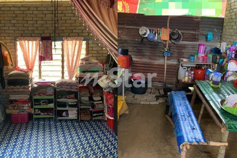 Dapur Lantai Tanah Langsir Pisahkan Bilik Sikit Pun Tak Geli Jejak Rumah Daif 6 Sekeluarga Ini Susunan Baju Melambangkan Disiplin Kuat Viral Mstar