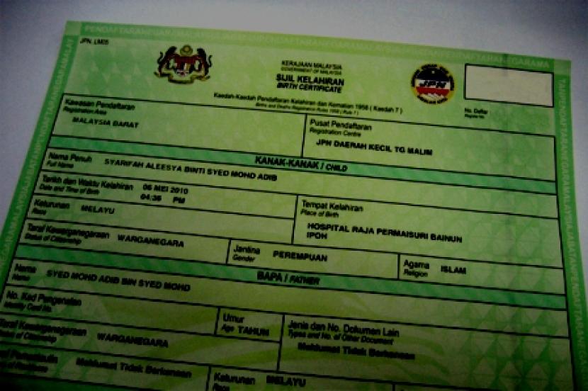 Miliki Sijil Kelahiran Bukan Automatik Warganegara Malaysia Jpn Semasa Mstar